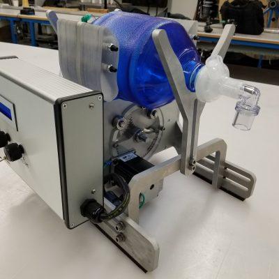 Prototype of Bag-valve-mask based emergency use ventilator