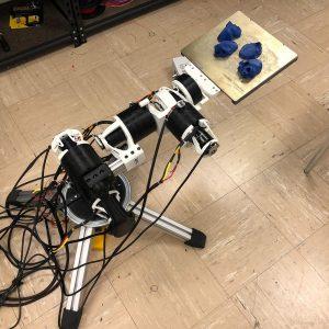 4-axis robotic arm FDM print, Aluminum extrusions, Arduino electronics. Stepper motors.